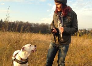 Hundetrainer mit Dogo Argentino